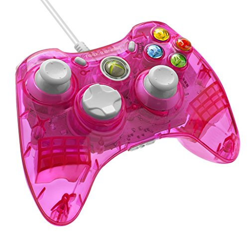 PDP Rock Candy Wired Controller for Xbox 360 - Pink Palooza (Xbox 360 Wired Blue compare prices)