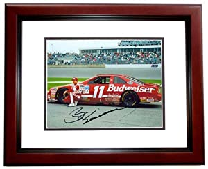 Bill Elliott Autographed Hand Signed Nascar 8x10 Photo - MAHOGANY CUSTOM FRAME by Real Deal Memorabilia