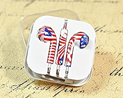 KARP Fancy Printed Designer Earphone for Apple iPhone/Android Mobiles/Tablets with Mic (Australian flag)