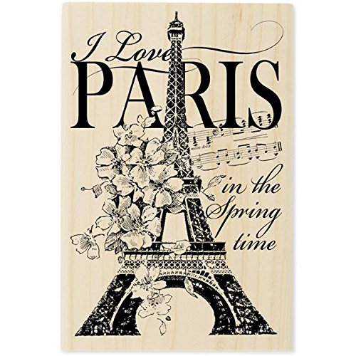 Stampendous Mounted Rubber Stamp, 3 by 4.5-Inch, I Love Paris - 1