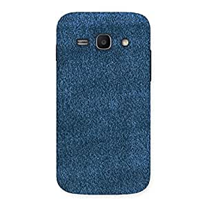 Royal Blue Cloth Print Back Case Cover for Galaxy Ace 3