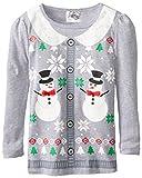 Beautees Little Girls Snowmen Christmas Long-Sleeve Tee