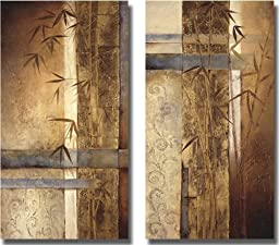 Bamboo Inspirations by Tito Quintero 2-pc Premium Gallery Wrapped Canvas Giclee Art Set (Ready to Hang)