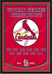 Dynasty Banner Of St. Louis Cardinals With Team Color Double Matting-Framed Awesome... by Art and More, Davenport, IA