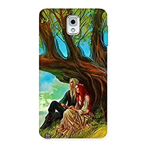Special Couple Under Tree Multicolor Back Case Cover for Galaxy Note 3