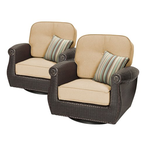 Breckenridge Swivel Rocker 2 Piece Patio Furniture Set (Natural Tan) by La-Z-Boy Outdoor picture