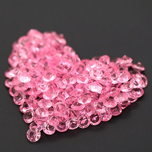 Shining 2000 Pcs 4.5mm Wedding Decoration Scatter Table Faux Diamond Acrylic Confetti (Pink)