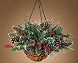 Christmas Hanging Basket Cordless Battery Operated LED with Timer