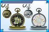 Final Fantasy XIV Moogle Design Pocket Watch - Gold & Silver - 2 Pack Set