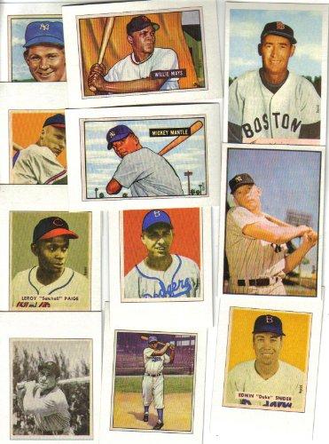 baseball cards back. Reprint Baseball Card Set