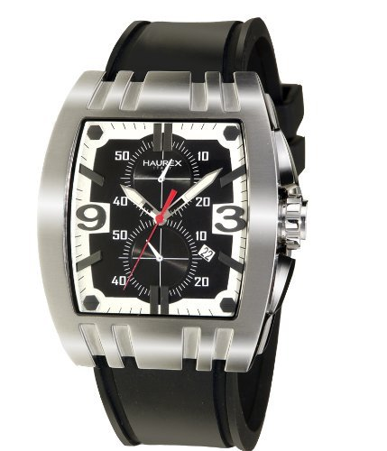 HAUREX ITALY Mangusta Black Dial Watch #3A326UNS- Orologio da uomo