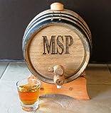 Personalized 2 Liter Oak Whiskey Barrel