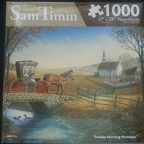 """The Art of Sam Timm """"Sunday Morning Nostalgia"""" 1000 Piece Puzzle 27"""" x 20"""""""