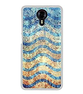 Waves Pattern 2D Hard Polycarbonate Designer Back Case Cover for Micromax Canvas Xpress 2 E313
