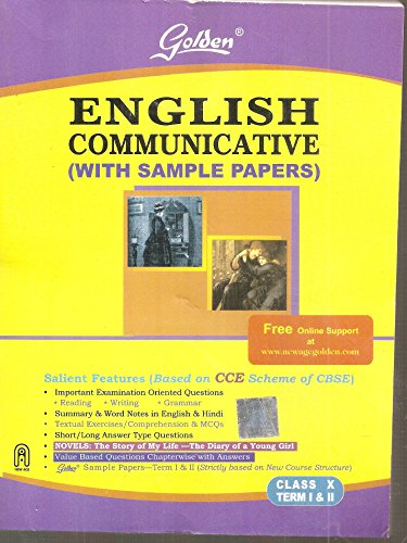 Golden English Communicative with Sample Papers Class - 10, Term 1 and 2