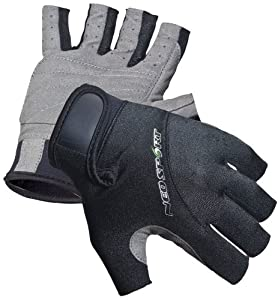 NeoSport Wetsuits Premium Neoprene 1.5mm 3/4 Finger Glove,Black,Medium