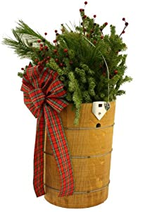 Worcester Wreath Bucket-O-Greens Christmas Decoration