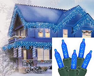 set of 70 blue led m5 mini icicle christmas. Black Bedroom Furniture Sets. Home Design Ideas
