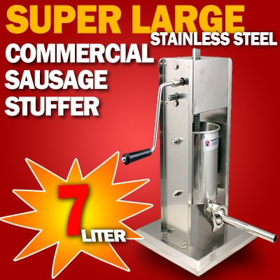 New MTN Gearsmith Commercial Grade Deluxe Stainless Steel Sausage Stuffer - 7L (Mtn Commercial Stainless Steel compare prices)