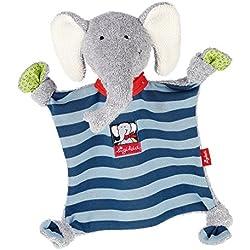 sigikid, Mädchen und Jungen, Schnuffeltuch Elefant, Lolo Lombardo, Blau/Grau, 48935