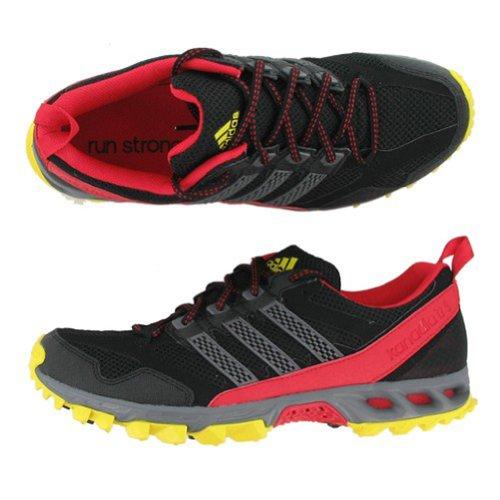 Andes Burro Editor  Adidas Kanadia 5 Trail Shoes Black Sharp Grey Vivid Red Mens 11 ...