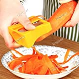 Tiny Deal Stainless Steel Carrot Cucumber Sharpener Fruit Peeler Vegetable Curl Slicer Kitchen Tool - Assorted Color Hki-343481