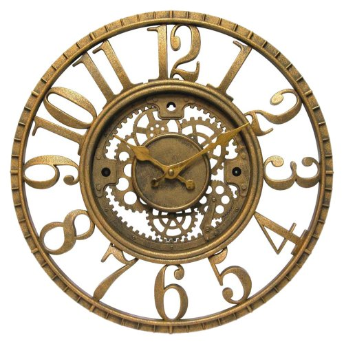 Infinity Instruments 12832AG Open Dial Resin Clock