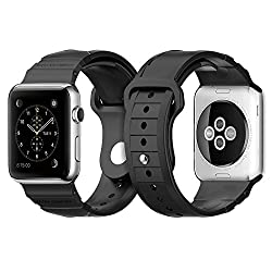Spigen Apple Watch (SERIES 1) Case/cover   (APPLE WATCH NOT INCLUDED) (42mm) (BIGGER VERSION) Rugged Band (Black) SGP11582