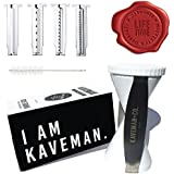 Kaveman & Co. 4-in-1 Spiral Slicer Bundle - 4 Blade Handheld Spiralizer & Peeler for Vegetables, Zoodles & Zucchini Noodles for Paleo Low Carb Diet w/ Free Bonus Tools