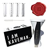 Kaveman & Co. 4-in-1 Spiral Slicer Bundle - 4 Blade Handheld Spiralizer & Peeler for Vegetables, Zoodles & Zucchini Noodles for Paleo Low Carb Diet w/ Free Bonus Tools