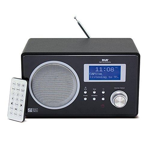 Ocean Digital DAB / DAB + / FM Bluetooth radiofonico Desktop Music Player Speaker sveglia Big Display - nero