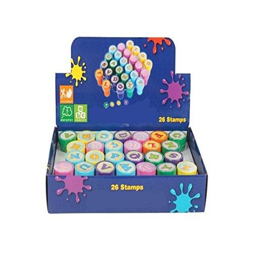 Tinksky 26Pcs lettre en plastique multicolore timbres jouet pour enfant (A à Z)