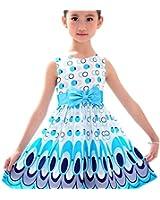 Etosell Robe d'été Princesse Multicolore sans Manches à Pois pour Enfant Fille 2-7 ans
