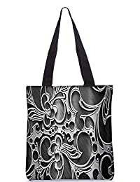 Snoogg Abstract Grey Design Digitally Printed Utility Tote Bag Handbag Made Of Poly Canvas