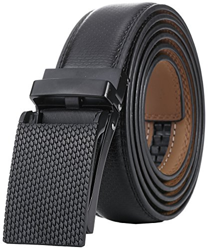 Marino Men's Genuine Leather Ratchet Dress Belt with Linxx Buckle, Enclosed in an Elegant Gift Box - Custom: Up to 44
