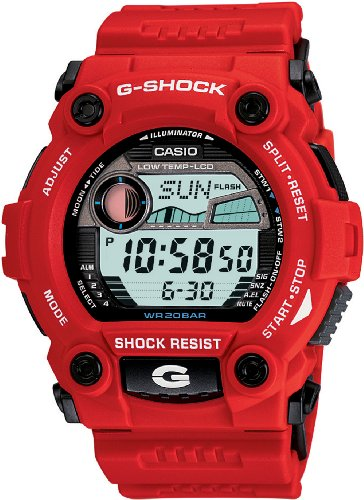 Casio Gents G-Shock Digital Dial Red Resin Strap Watch G-7900A-4ER