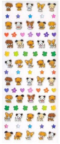 Iwako Dog Gel Drop Stickers, Scented, (2 Sheets) #08709 - 1