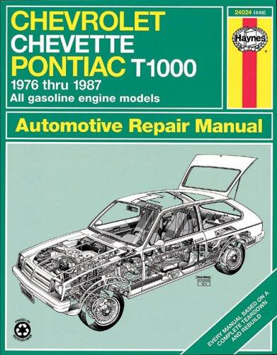 Chevrolet Chevette '76'87 (Book No. 449), CHILTON