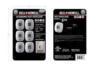 Bell Howell Pest Repeller 6 Pack