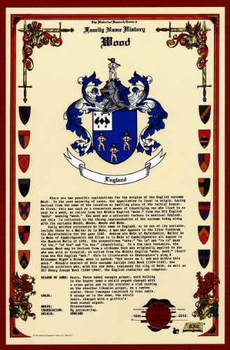 Wood Coat Of Arms/Crest And Family Name History, Meaning & Origin Plus Genealogy/Family Tree Research Aid To Help Find Clues To Ancestry, Roots, Namesakes And Ancestors Plus Many Other Surnames At The Historical Research Center Store front-258780