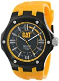 Cat Men's Quartz Watch with Black Dial Analogue Display and Yellow Rubber Strap A1.161.27.127