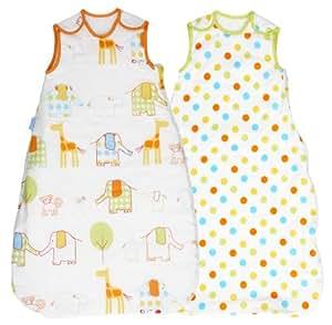 Grobag Wash & Wear 1.0 Tog Baby Sleep Bag Twin Pack (0-6 Months)