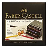 Faber-Castel Pitt Artist Brush Pens (48 Pack), Multicolor (Color: Assorted Colors)