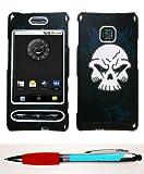 Accessory Factory(TM) Bundle (Phone Case, 2in1 Stylus Point Pen) LG GT540 (Optimus) Dark Night Skull Phone Protector Cover