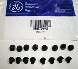 16 PACK of WB02T10461 General Electric GE Gas Range Grate Rubber Feet