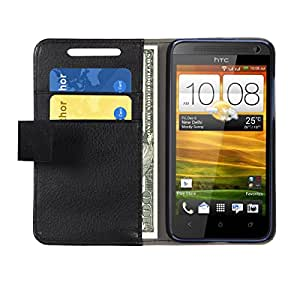 Jacket DESIRE 501 Flip Cover, Leather Flip Cover Wallet Case With Magnetic Closure -Black
