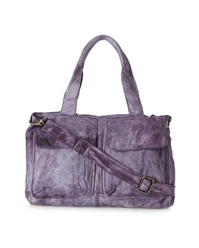 Latico Women's Catalina East/West Satchel, Purple
