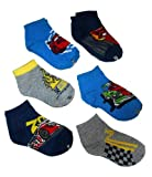 Disney Pixar Cars Toddler Boy's 1/4 Crew Socks - 6 Pair