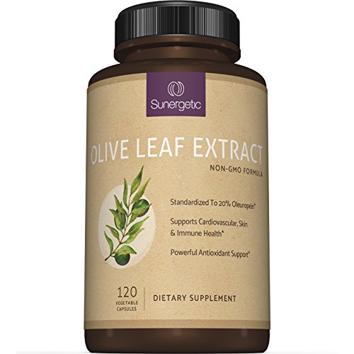 Best Olive Leaf Extract Capsules - Standardized To 20% Oleuropein - Super Strength Olive Leaf Exact Supplement Supports Healthy Immune, Skin & Cardiovascular Health - 750mg Per Capsule - 120 Capsules (Oil Leaf Extract compare prices)