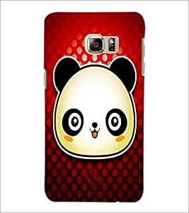 PrintDhaba Panda D-4871 Back Case Cover for SAMSUNG GALAXY NOTE 5 EDGE (Multi-Coloured)